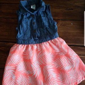 healthtex Dresses - Denim Dress with Attached Chiffon Bottom